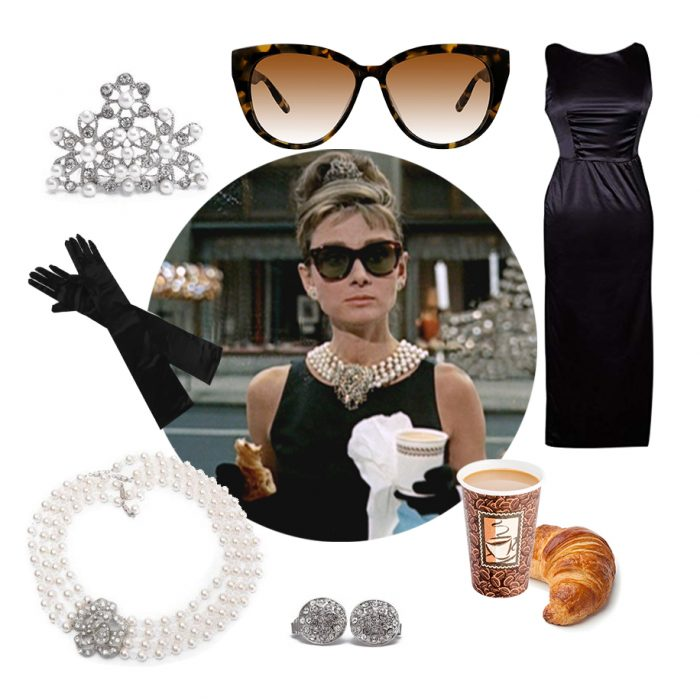 Audrey Hepburn costume idea accessories