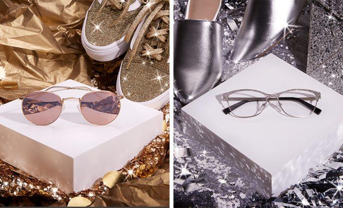 1e994e0002 Gold   Silver Glasses With the Accessories to Match