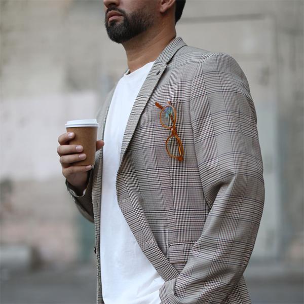 Eff Ulloa with camel coat