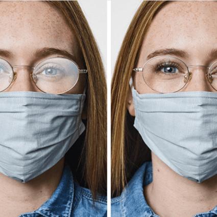 compare antifog and regular. lenses